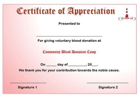 Certificate Of Appreciation For Donation Template by 50 Professional Free Certificate Of Appreciation