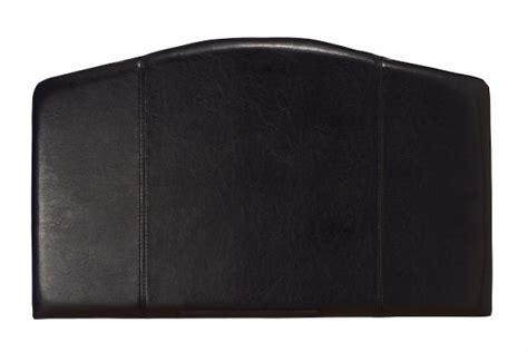serene rosa 4ft6 double black faux leather headboard by