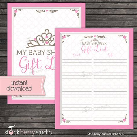 Baby Shower Booklet Template Baby Shower Guest List Template 8 Free Sle Exle