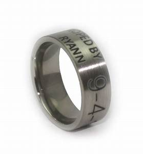 duck band custom laser engraved wedding ring With laser engraved wedding rings