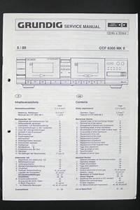 Grundig Ccf 8300 Mk Ii Cassette Deck Service Manual  Wiring Diagram  Diagram O94