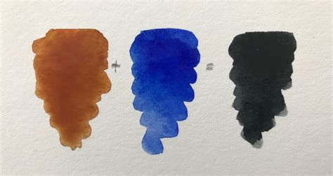 4 formulas for mixing black paint with watercolors