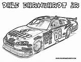 Coloring Nascar Race Pages Dale sketch template