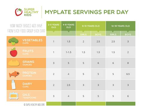 Per Day by Myplate Guide To Portion Sizes Healthy Ideas For Kids