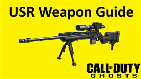 Usr Sniper Rifle Weapon Guide Call Of Duty Ghosts Best