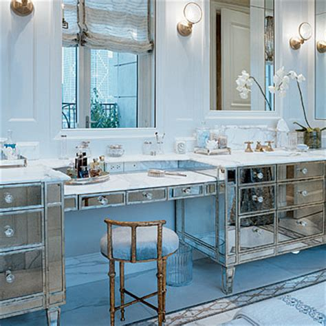 glam bathroom ideas mirrored bathroom vanity contemporary bathroom