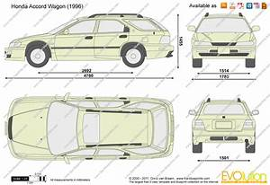 Honda Accord Wagon Vector Drawing