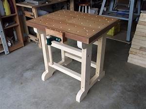 Woodwork Mobile Woodworking Workbench PDF Plans