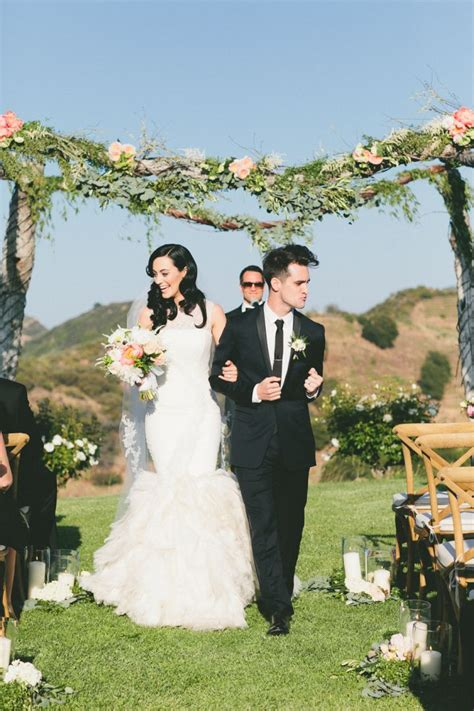 Charming Malibu Wedding Brendon Urie Wedding Mod