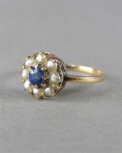 PRETTY Gold, Seed Pearl And Sapphire Antique Victorian ...