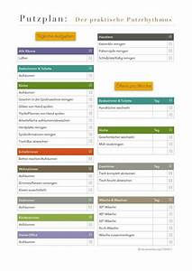 Wohnung Putzen Checkliste : haushalt putzen plan die 25 besten ideen zu putzplan auf pinterest putzen im haushalt ~ Markanthonyermac.com Haus und Dekorationen