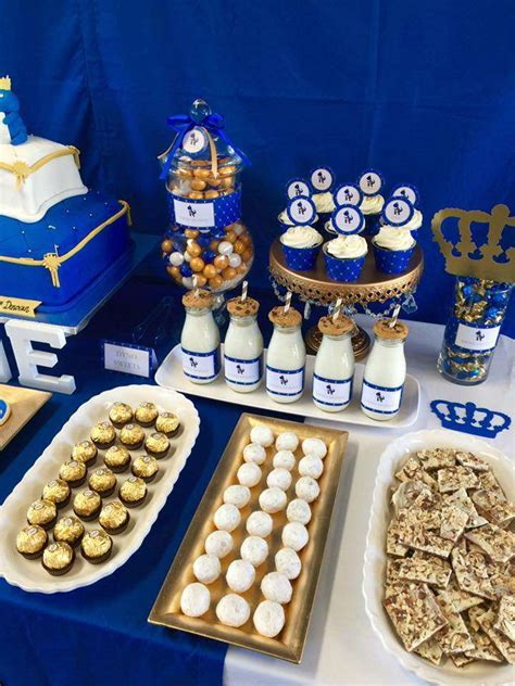 royalty blue gold birthday party ideas photo 5 of 7 catch my party