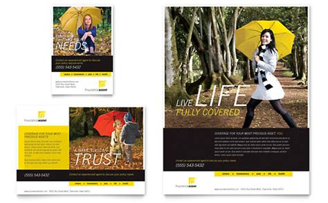 financial services print ad templates design examples