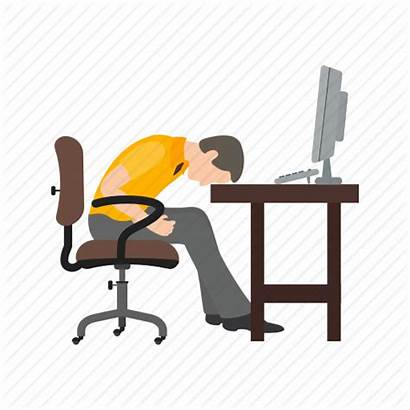 Tired Icon Lazy Worker Exhausted Sleepy Person