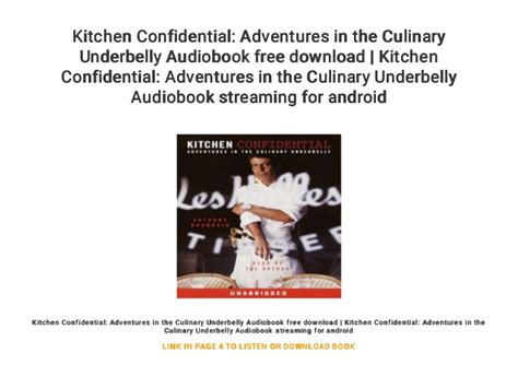 kitchen confidential adventures   culinary