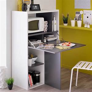 Lowboard Weiß Grau : k chenregal palencia in wei grau mit klapptisch ~ Orissabook.com Haus und Dekorationen