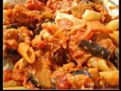 pates aux aubergines et mozzarella recettes de p 226 tes de d 233 lectation culinaire
