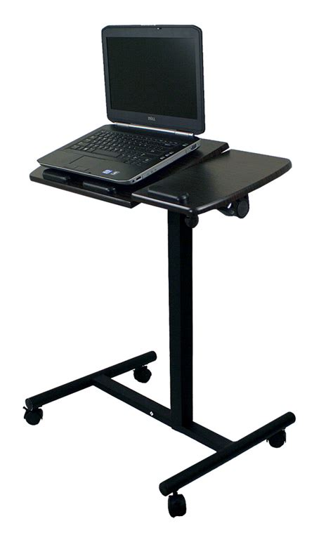 mobile laptop desk cart new portable notebook laptop rolling table cart tv stand