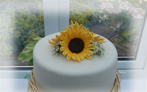 Sunflower Wedding Cake Bakealous