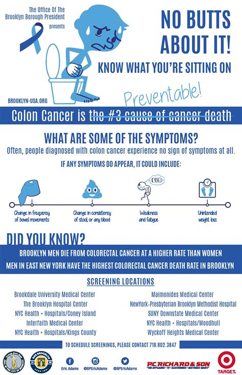 screenings  colon cancer awareness month office   brooklyn borough president eric