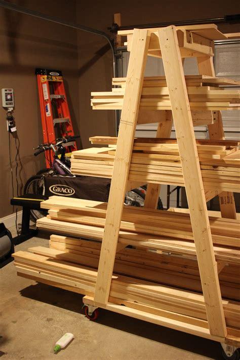 lumber rack ideas diy mobile lumber rack plans by rogue engineer