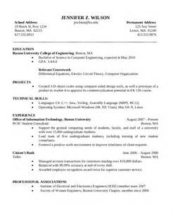 Bachelor Of Computer Science Resume Exle by Computer Science Resume Template Resume Format Pdf