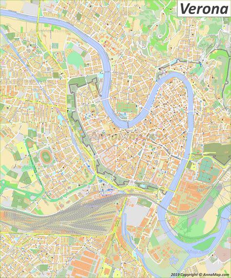 detailed tourist maps  verona italy  printable