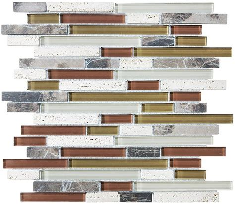 bliss linear mosaic bliss cabernet stone and glass linear mosaic tiles rocky point tile glass and mosaic tile store
