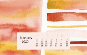 Free Printable Calendar February 2020 Monthly 2020 Desktop Calendar Wallpaper Desktop