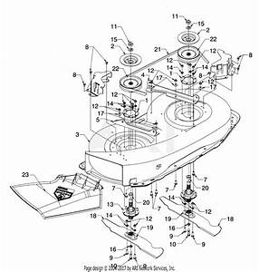 Mtd 13ah451e062  1997  Parts Diagram For Deck And Spindle Assembly
