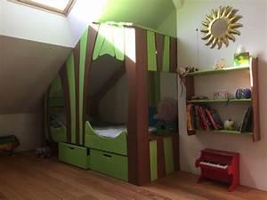 Cabane Lit Enfant : lit cabane bois massif enfant sequoia abra ma cabane ~ Melissatoandfro.com Idées de Décoration