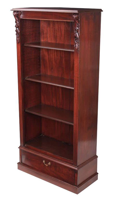 Mahogony Bookcase by Slim Mahogany Open Bookcase C 1870 Oye170419b La60160