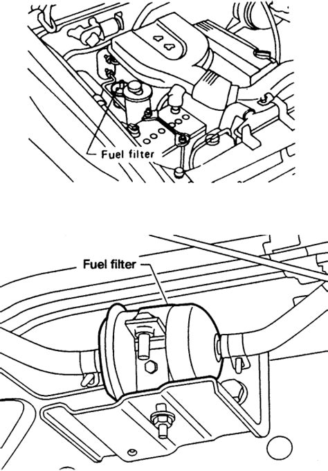 2003 Altima Fuel Filter Location by Repair Guides Fuel Filter Removal Installation