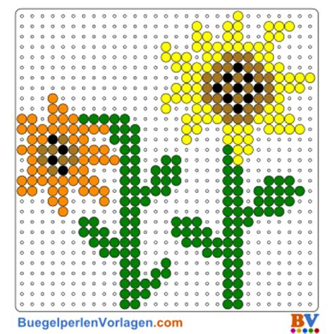 buegelperlen vorlagen von sonnenblumen zum herunterladen