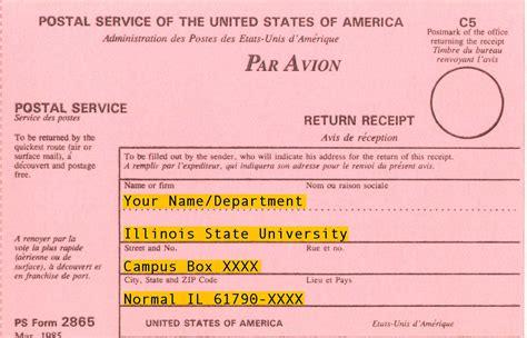 registered mail information