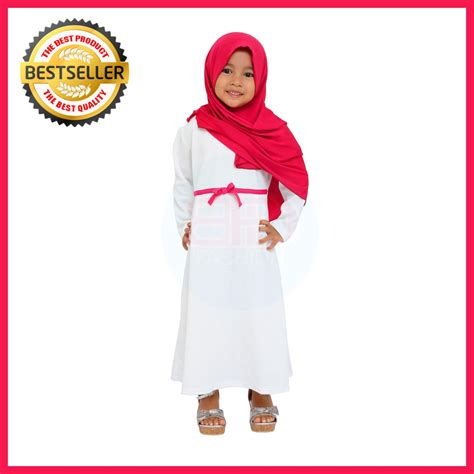 Baju Dress Muslim Anak Perempuan 21 Model Baju Muslim Anak