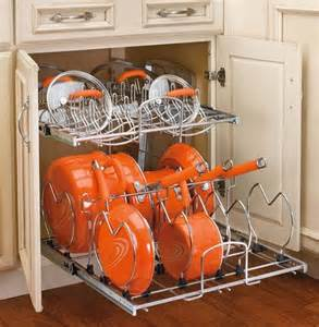 rev a shelf two tier cookware organizer eclectic pantry and cabinet organizers by home