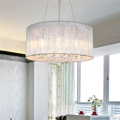 drum shade light fixtures drum shade crystal ceiling chandelier pendant light