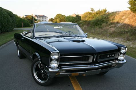 1965 Gto Convertible Very Rare Color Combo, Phs Documented