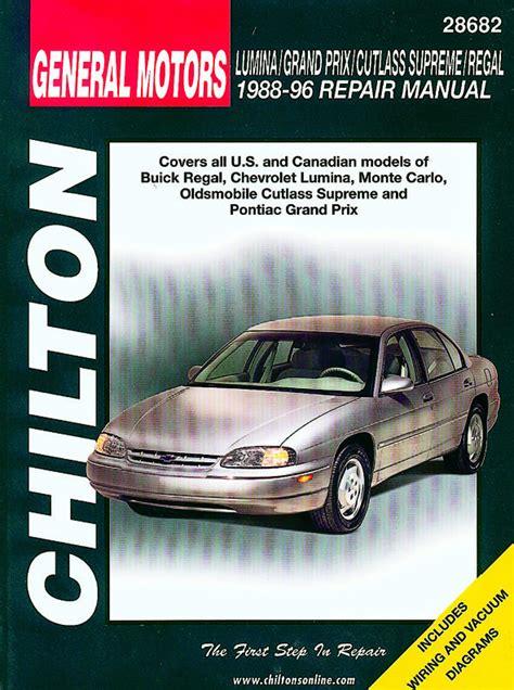 best car repair manuals 1996 chevrolet monte carlo parking system buick chevrolet oldsmobile pontiac full size 1988 1996