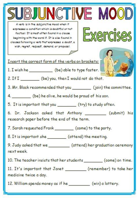subjunctive mood exercises