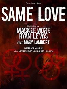Macklemore and Ryan Lewis - Same Love - Sheet Music at ...