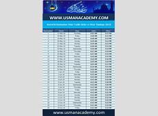 Karachi Ramadan Calendar 2019 timing time table