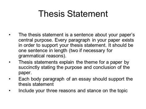 writing the outline and thesis statement ppt writing the outline and thesis statement ppt