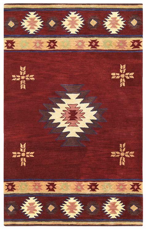 Wool Rugs by Southwest Indian Pattern Wool Area Rug In