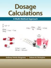 Drug Dosage Calculation Formulas