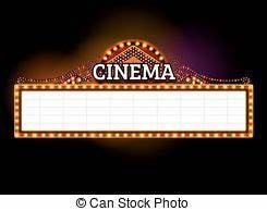 Theater marquee sign Theater marquee blank neon lights