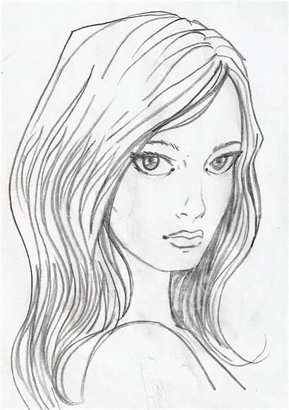Face Sketch Lonely Angel Deviantart Bluehawk Tekmovanje