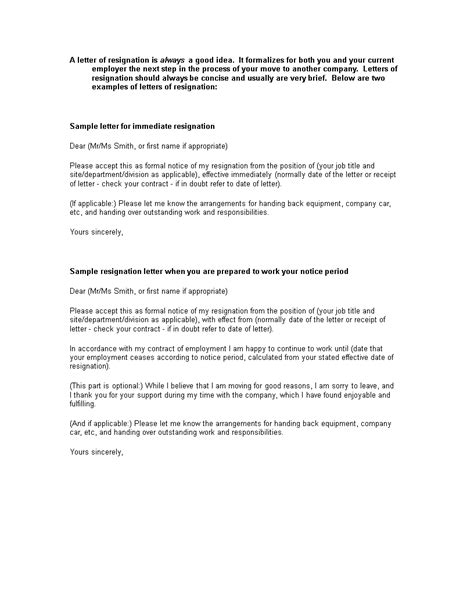 Official Employment Resignation Letter | Templates at allbusinesstemplates.com