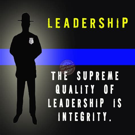 Police Leadership Motivational Quotes. QuotesGram